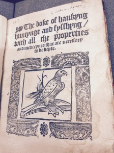 Booke of haukyng hunting and fysshyng [1556?]