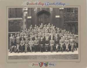 Lincoln College moves in with Exeter College 1944