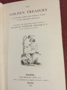 The Golden Treasury published in 1861