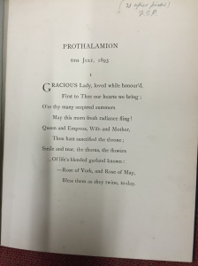 Prothalamion first page